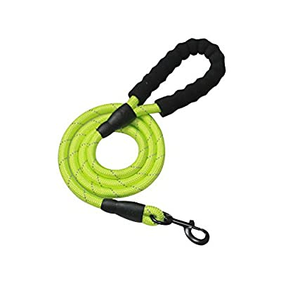 Homim Hunde Leinen Grün Nylon Reflektierend rund Hundeleine für Mittel Mittelgross oder Große hunde passend zu Halsband und Geschirr 150cmx1.2cm