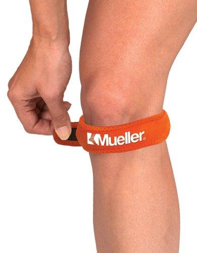 Mueller Kniegurt / Jumper's Knee Strap, Einheitsgrösse, orange - Patella Tendonitis Gurt