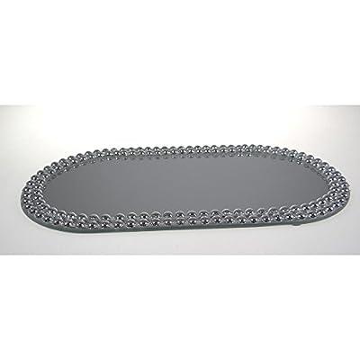 Sandra Rich Spiegelplatte, Deko Spiegel, Tischspiegel 30x14 cm, oval