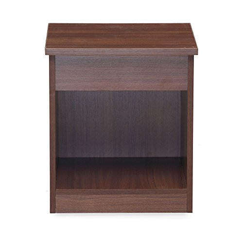 Nilkamal Reegan Side Table (Walnut Finish, Brown)