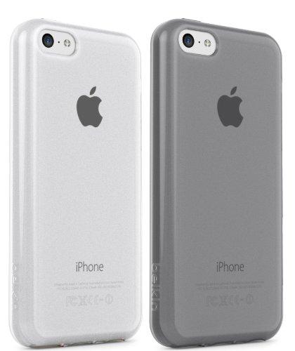 Duo Sheer (Belkin F8W374B1C00-2 Grip Sheer Schutzhülle (geeignet für Apple iPhone 5C, 2er-Pack) schwarz/klar)