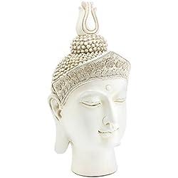 Lesser & Pavey–Adorno de cabeza de Buda, crema, grande