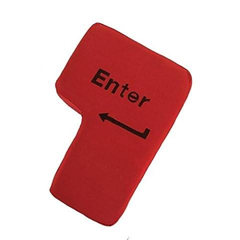DOLDOA USB Große Eingabetaste Tabelle Kissen,Home USB Knopf Office Schaum Nickerchen Kissen Schlot Werkzeug Periphere Schlüssel (Eingabetaste Kissen) (Eingabetaste Kissen - 2)