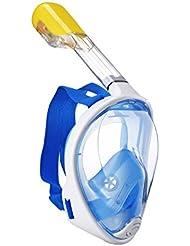 LUOOV 180 ° Scuba Mask, Tauchmaske,Schnorcheln Maske, für Erwachsene und Jugendliche Größe breit View Full Face mit Anti Nebel Spray - Einfaches Atmen Technologie