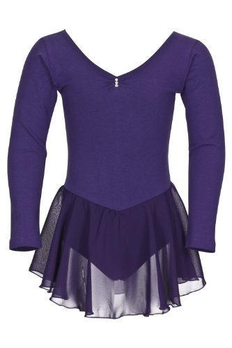 tanzmuster Kinder Langarm Ballettkleid