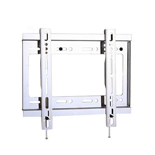 Liutao Edelstahl-LCD-TV-Rack-Wandhalterung 43 50 55 60 Zoll 32-65 Zoll Einteiliger verstärkter Edelstahl (Color : Black, Größe : 26 * 17.5cm)
