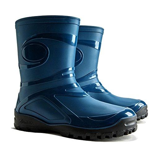 Regenstiefel dEMAR bottes en caoutchouc brillant pour les loisirs, le jardin, etc. yOUNG 2 Bleu - Bleu foncé