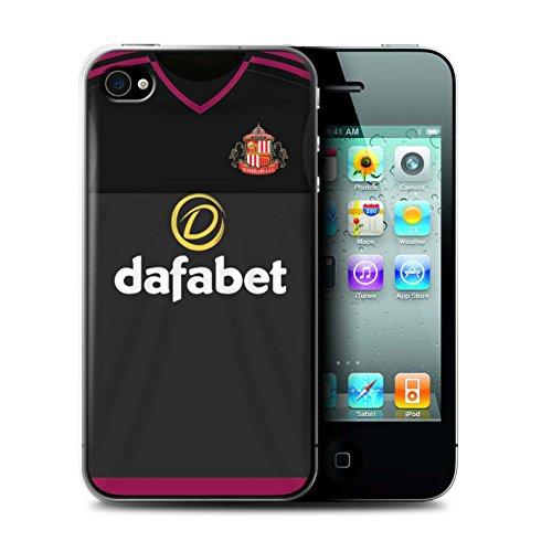 Officiel Sunderland AFC Coque / Etui pour Apple iPhone 4/4S / Pack 24pcs Design / SAFC Maillot Extérieur 15/16 Collection Gardien But