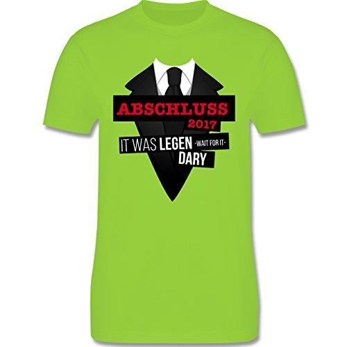 Abi & Abschluss - Abschluss 2017 - It was legen -wait for it- dary - Herren Premium T-Shirt Hellgrün