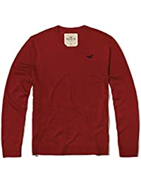 HOLLISTER New by Abercrombie Medium M Red V-Neck Men's Sweater Jumper SZ M