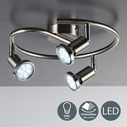 Lámpara techo focos giratorios orientable incl. 3x3W