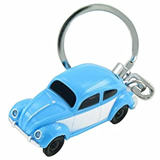 Volkswagen VW Beetle in Blue Scale 1: 87 Boxer LED Light Key Ring