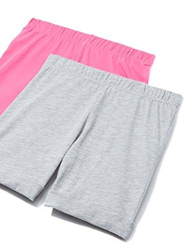 RED WAGON Mädchen Shorts im 2er-Pack, Mehrfarbig (Grey/Pink), 122 (Herstellergröße: 7 Jahre) (Kleider 2-pack Mädchen)