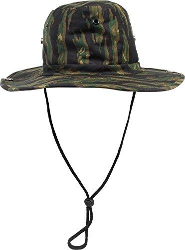 normani Buschhut (Schlapphut), mit Kinnband zum Hochstellen Farbe Tiger Stripe Größe 57