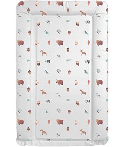 Luxus-Wickelunterlage für Babys, Unisex, wasserfest, mit angehobenem Rand, einzigartiges und schönes Design mit Waldtieren