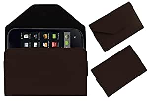 Acm Premium Pouch Case For Iball Andi 3.5r Flip Flap Cover Holder Brown