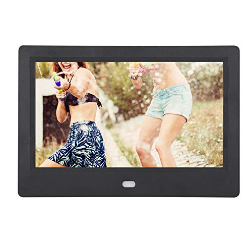 Tangxi Digitaler Fotorahmen, elektronisches Album des 7-Zoll-HD 1024 * 600 IPS-Bildschirm-LED der hochauflösenden Funktion des Musik- / Video-Players/Kalenders usw. für Freunde/Familienmitglieder(EU)