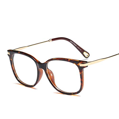 Unisex - Trend Retro Large Oversized Bold Frame Klare Linse Hornbrille mit Rand. Brille (Farbe : Clear/White)