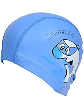 TININNA impermeabile traspirante delfini di modelli protezione capelli e  orecchie nuotata Cappello fit bambini ee8f7da6a7aa