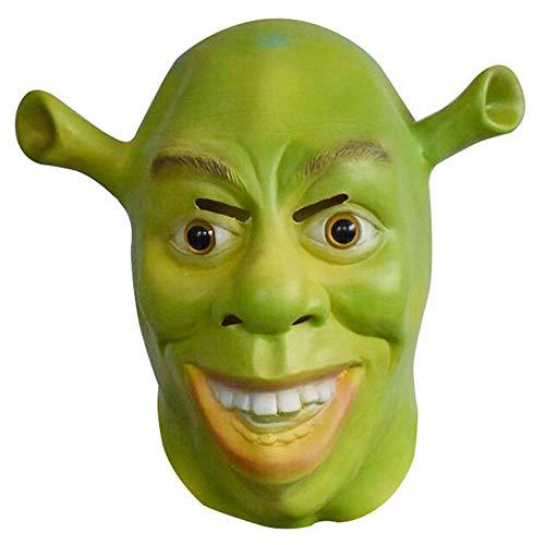 ZMDHL Halloween Green Shrek Maske, Halloween Kostüm