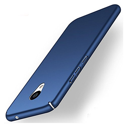 UKDANDANWEI Meizu M5s Custodia,Semplice Slim Protezione e Hard Case Cover Custodia protettiva per Meizu M5s - Blu