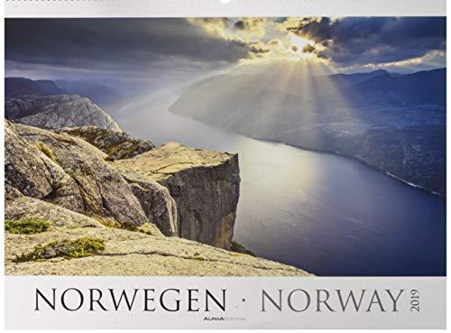 Norwegen 2019 - Norway - Bildkalender XXL (64 x 48) - Landschaftskalender - Naturkalender