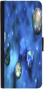 Snoogg Cosmic Visualization Designer Protective Phone Flip Case Cover For Moto E 2Nd Generation