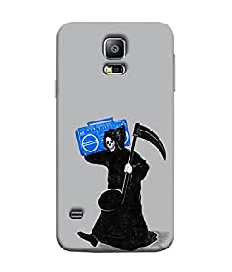 FUSON Designer Back Case Cover for Samsung Galaxy S5 Neo :: Samsung Galaxy S5 Neo G903F :: Samsung Galaxy S5 Neo G903W (Music Soul Arts Funny Cartoons Fashion suit )
