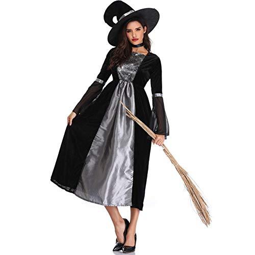 TIANFUSW Herrin Hexenkostüm Hexe Sexy Halloween Kostüm für Frauen, XL