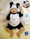 AIBAOLIAN Muñeca Bebé Reborn 18 Pulgadas 45cm Silicona Suave Vinilo Vida Real Bebé Recién Nacido Hecho a Mano Juguetes de Niño y Niña Los Mejores Regalos para Niños