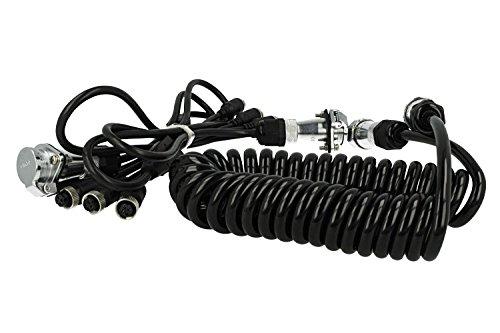 Kabel Verkabelung Verbindung für 4Kameras Rückfahrkamera für Anhänger Wohnwagen Caravan Trailer LKW Wohnmobil