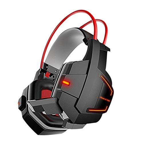 GMACCE Casque de Jeu PS4 Headset avec 7,1 stéréo Surround Sound, Xbox One Casque avec Micro suppresseur de Bruit, Fonctionne sur PC, PS4, Xbox One