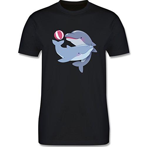 Wildnis - Delfine - Herren Premium T-Shirt Schwarz