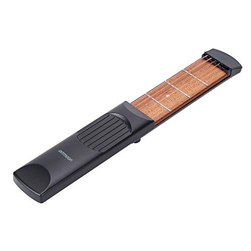 ammoon Portatile Tasca Chitarra Acustica di Pratica di Gadget Chord Trainer 6 Corde 4 Fret Modello per Principianti