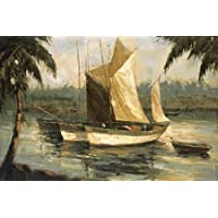 HeritageArtDecor Journeys End I - Fine Art Print on Fine Art Canvas - Print ON Canvas ONLY -NO Frame - Image Size is 65 x 43 Inch Wall Painting