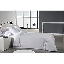 Reig Martí Niruel - Juego de funda nórdica jacquard, 4 piezas, para cama de 180 cm, color blanco