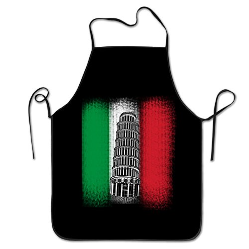 The Leaning Tower Of Pisa Italy Unisex Cooking Kitchen Aprons Chef Apron Bib