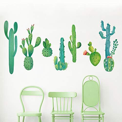 decalmile Wandtattoo Kaktus Grüne Tropischen Pflanzen Wandsticker Wandaufkleber Schlafzimmer Wohnzimmer Wanddekoration