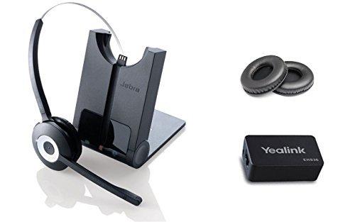 Yealink Bluetooth-Headset für Yealink SIP Telefone T48G, T46G, T42G, T41P, T38G, T28P, T26P, inkl. Yeaklink Wireless Headset-Adapter, Jabra PRO 920 EHS Bundle -