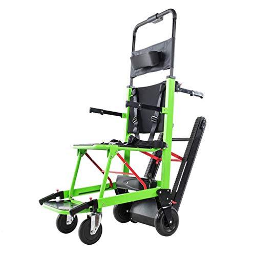 GLYIG La Silla de Ruedas Eléctrica Plegable Puede Subir Escaleras. para Discapacitados y Ancianos Totalmente Automático Sube y Baja La...