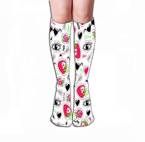 HUKEDCQ Men's Dress Socks Fun Athletic Socks 19.7