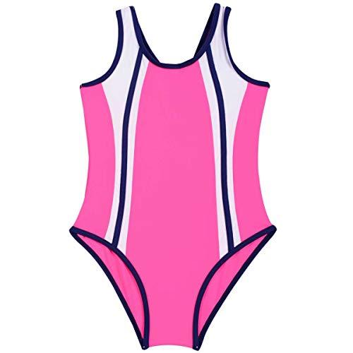Chengxin Neue 2019 Mädchen Einteilige Badebekleidung Drucken Hohe Taille Schwimmen Racing Anzug Bikini Bademode (Color : 2, Size : 5-6T)