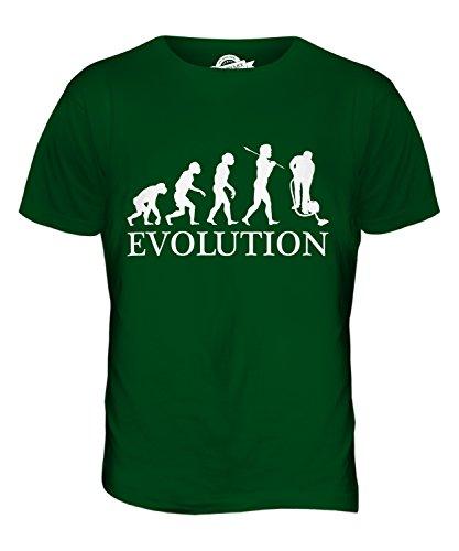 CandyMix Hausmeister Putzer Evolution Des Menschen Herren T Shirt Flaschengrün