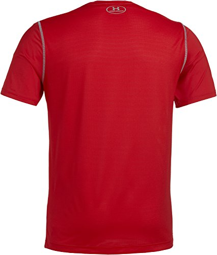 Under Armour Fitness Raid Short Sleeve Tee Herren Fitness - T-Shirts & Tanks Brick Red/White