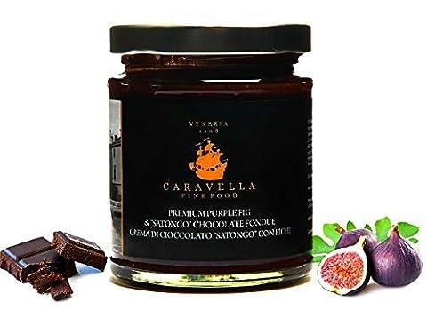 Caravella Premium Schokoladencreme mit Feigen aus Süditalien Gourmet Spread Schokoladenaufstrich