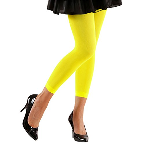 Neon Yellow, Green, Pink or Orange Tights for 80s Dress-Up - one size
