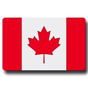 Kühlschrankmagnet Flagge Kanada - 85x55 mm - Metall Magnet mit Motiv Länderflagge