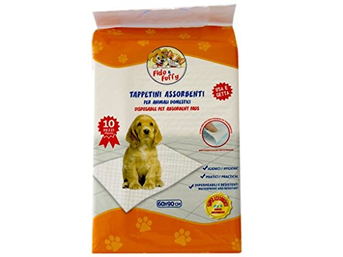 PALUCART-tappetini igienici assorbenti per cane pipì 60x90 super convenienti traversine x cani 50 pezzi animali domestici con adesivo anche per gatti anti odore
