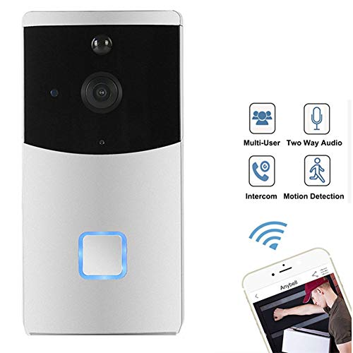 Wifi smart video citofono campanello telecamera bidirezionale audio visore notturno rilevatore di movimento pir allarme campanello di sicurezza domestica senza fili