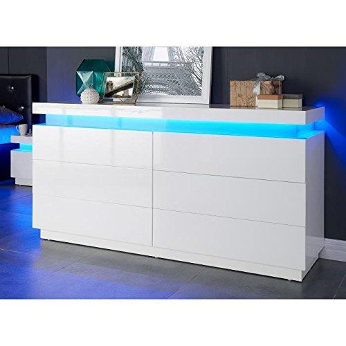 flash-cassettiera-150-cm-con-led-multicolore-bianco-lucido